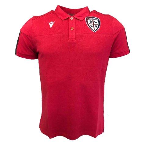 2019-2020 Cagliari Travel Polo Shirt (Red)