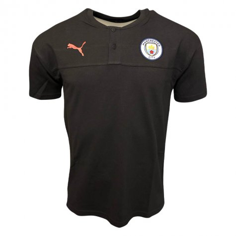 2019-2020 Manchester City Puma Casual Performance Polo Shirt (Asphalt)