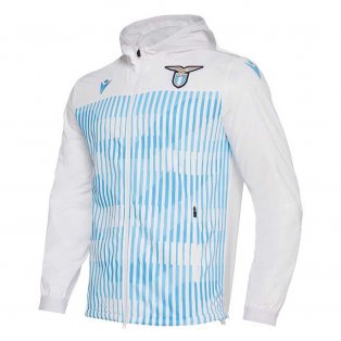 2019-2020 Lazio Macron Full Zip Anthem Jacket (White)