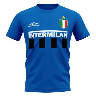 Inter Milan Vintage Football T-Shirt (Blue)