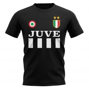 Juventus Vintage Football T-Shirt (Black)