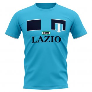 Lazio Vintage Football T-Shirt (Sky)