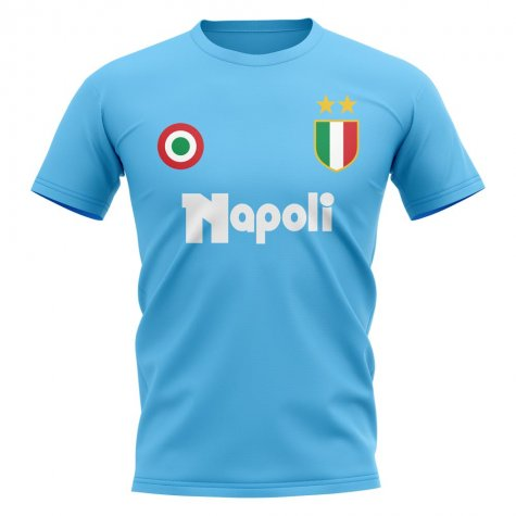 Napoli Vintage Football T-Shirt (Sky)