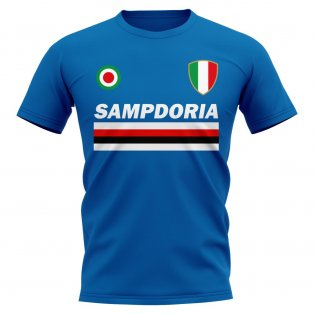Sampdoria Vintage Football T-Shirt (Blue)