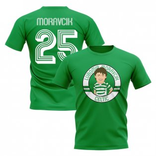Lubomir Moravcik Celtic Illustration T-Shirt (Green)