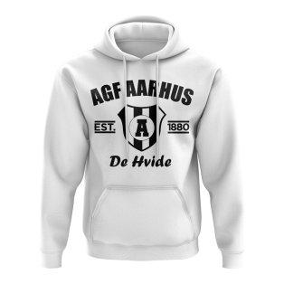 Agf Aarhus Established Football Hoody (White)