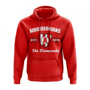 Airdrie Established Football Hoody (Red)