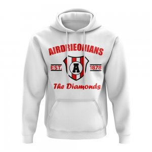 Airdrie Established Football Hoody (White)