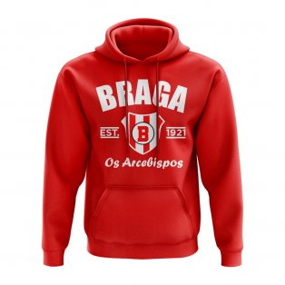 Braga Established Football Hoody (Red)