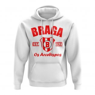 Braga Established Football Hoody (White)