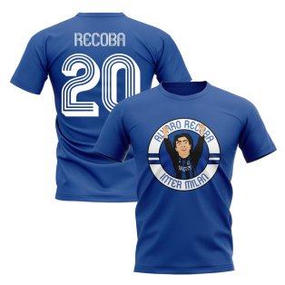 Alvaro Recoba Inter Milan Illustration T-Shirt (Blue)