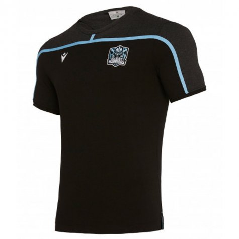 2019-2020 Glasgow Warriors Rugby Travel Cotton Tee (Black)