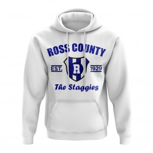 Ross County Established Football Hoody (White)