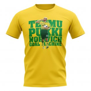 Teemu Pukki Norwich Player T-Shirt (Yellow)