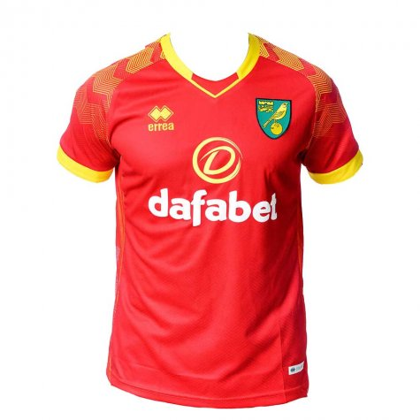 2019-2020 Norwich City Errea Away Football Shirt