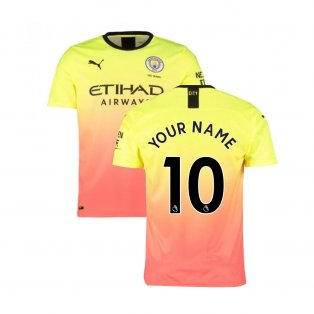 2019-2020 Manchester City Puma Third Football Shirt (Your Name)