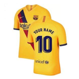 2019-2020 Barcelona Away Nike Football Shirt (Your Name)