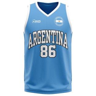 Argentina Home Concept Basketball Shirt