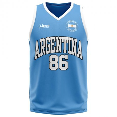 Argentina Home Concept Basketball Shirt - Baby