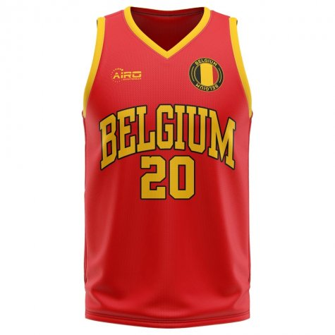 Belgium Home Concept Basketball Shirt
