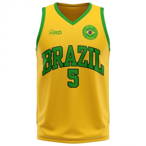 Brazil Home Concept Basketball Shirt - Baby