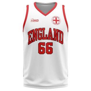 England Home Concept Basketball Shirt
