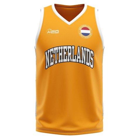 Netherlands Home Concept Basketball Shirt - Kids