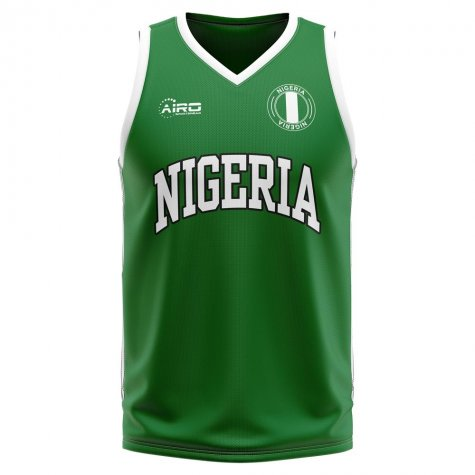 Nigeria Home Concept Basketball Shirt - Little Boys