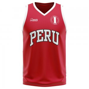 Peru Home Concept Basketball Shirt - Little Boys
