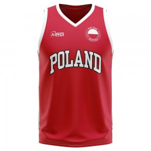 Poland Home Concept Basketball Shirt - Little Boys