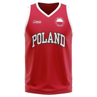Poland Home Concept Basketball Shirt