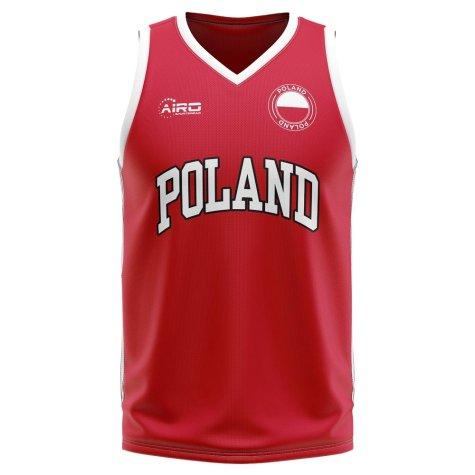 Poland Home Concept Basketball Shirt - Kids