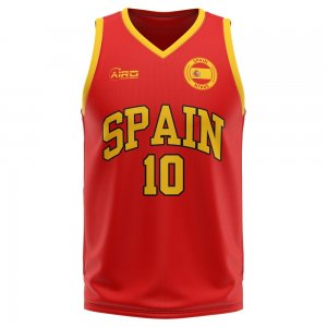 Spain Home Concept Basketball Shirt - Little Boys