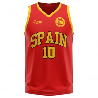 Spain Home Concept Basketball Shirt