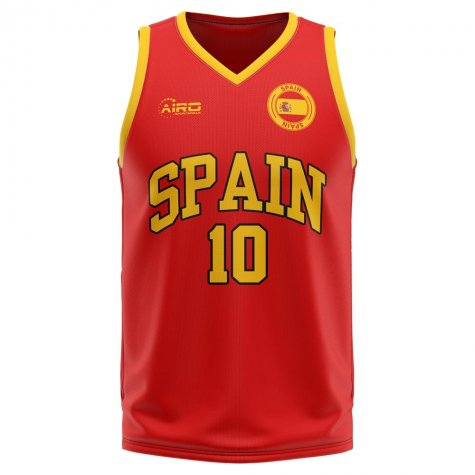Spain Home Concept Basketball Shirt - Kids