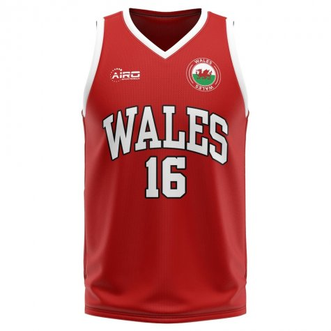 Wales Home Concept Basketball Shirt - Baby