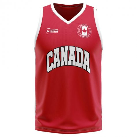 Canada Home Concept Basketball Shirt - Little Boys