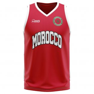 Morocco Home Concept Basketball Shirt