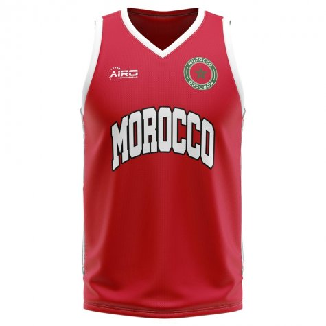 Morocco Home Concept Basketball Shirt - Kids