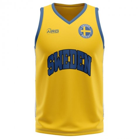Sweden Home Concept Basketball Shirt
