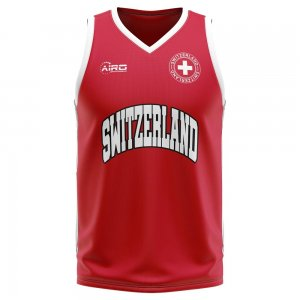 Switzerland Home Concept Basketball Shirt - Little Boys
