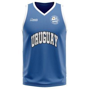 Uruguay Home Concept Basketball Shirt