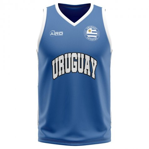Uruguay Home Concept Basketball Shirt