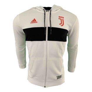 2019-2020 Juventus Adidas 3S Full Zip Hoody (White)