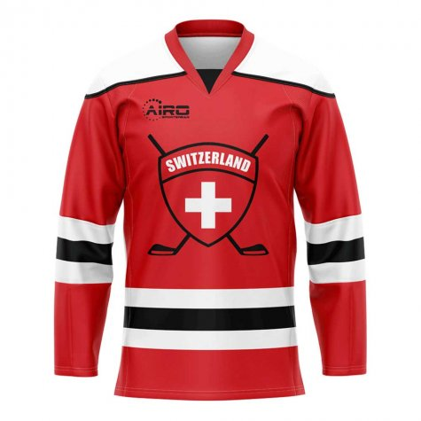 Switzerland Home Ice Hockey Shirt