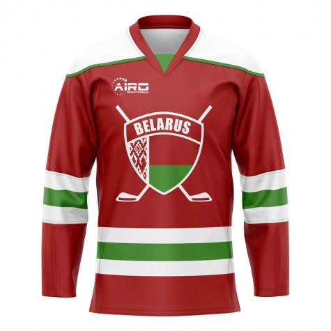 Belarus Home Ice Hockey Shirt