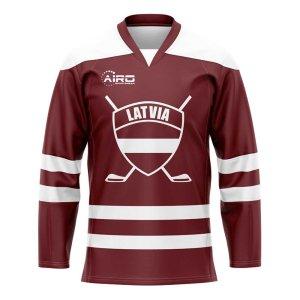 Latvia Home Ice Hockey Shirt