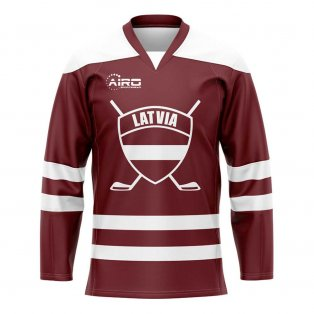 Latvia Home Ice Hockey Shirt