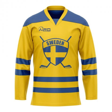 Sweden Home Ice Hockey Shirt