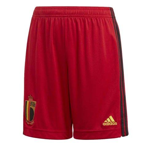 2020-2021 Belgium Home Adidas Football Shorts (Kids)
